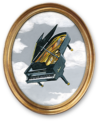 Portrait of a piano in the sky