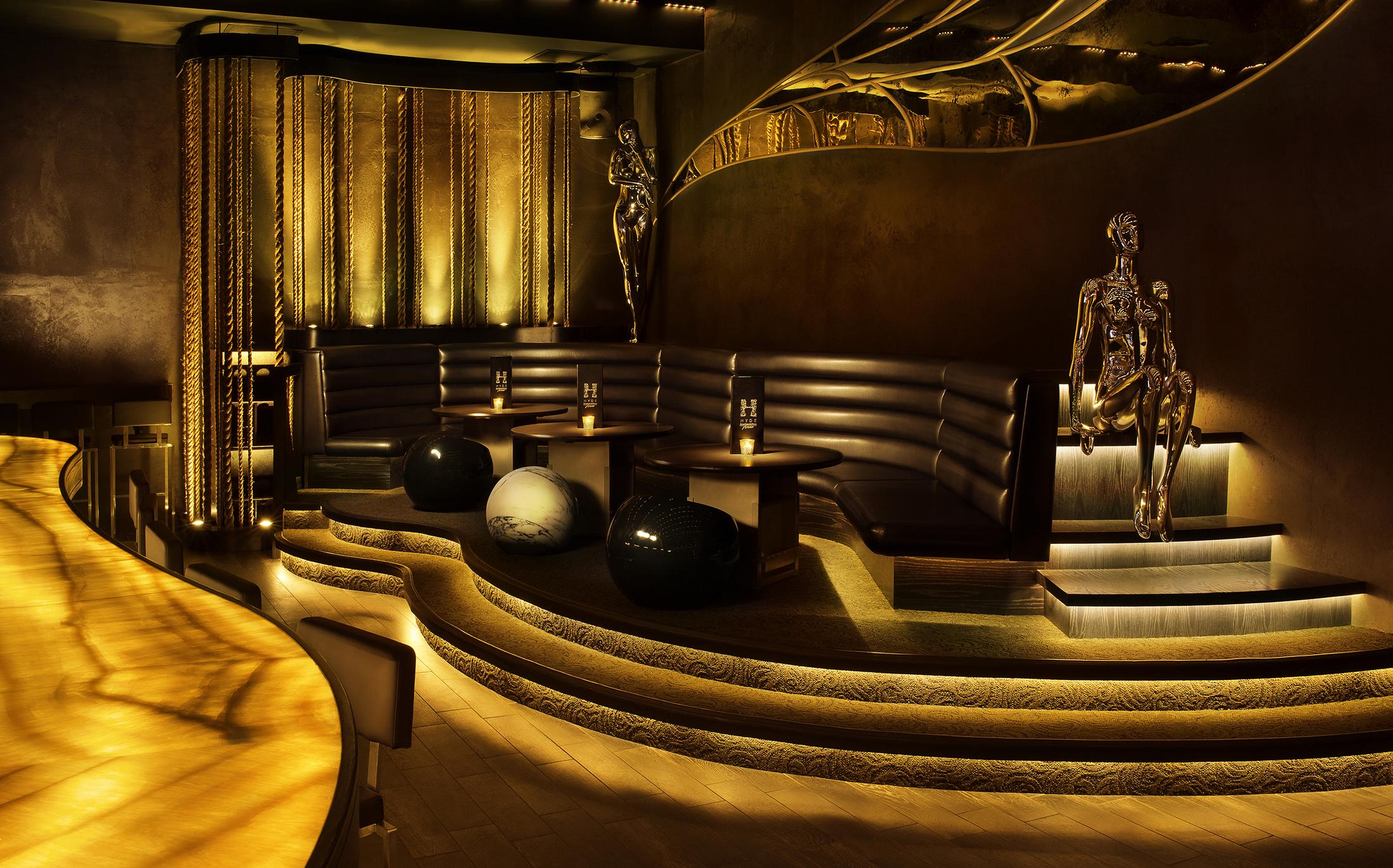 interior lounge at Hyde American Airlines Arena