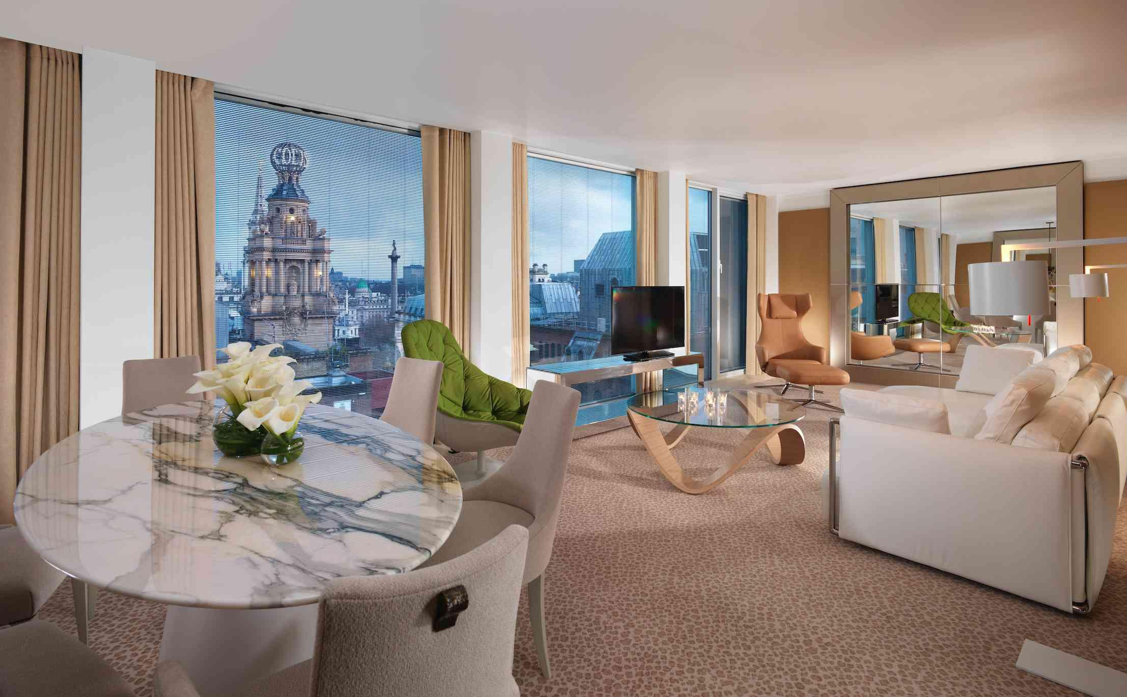 penthouse luxurious furniture with city views